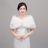 Women's Wrap Shawls Faux Fur Wedding / Party/Evening Shawl Collar Feathers / fur Hidden Clasp