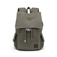 Unisex Canvas Casual Backpack Blue / Green / Brown / Black / Khaki