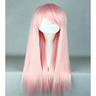 wysokiej jakości kostiumów włosy syntetyczne lekkie różowe peruki cosplay lolita 70cm długa prosta peruka