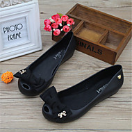 Women's Sandals Summer Comfort Rubber Casual Flat Heel Bowknot Black Blue Pink Gray Others