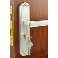 hvit&gull dørlås, lever lås, leverset, dør spak med 3 nøkler