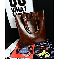 Women PU Casual Tote Black Brown Red Green Light Brown