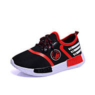 Boy's Sneakers Spring / Fall Comfort / Round Toe Tulle Athletic / Casual Flat Heel Others / Lace-up Black