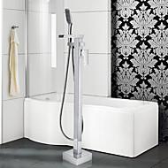 Contemporary / Art Deco/Retro / Floor Standing / Pullout Spray with  Ceramic ValveSingle Handle One