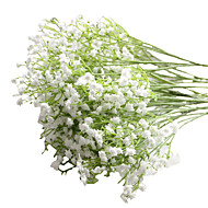 6pcs/Set 6 Branch PU Baby Breath Tabletop Flower Artificial Flowers 23 inch