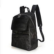 Casual Backpack Men Oxford Cloth Black