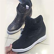 נשים-נעלי ספורט-נצנצים-Others-שחור / כסוף-קז'ואל-עקב וודג'