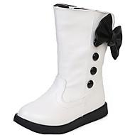 Girl's Boots Fall / Winter Snow Boots / Comfort PU Dress / Casual Flat Heel Zipper Black / Red / White Walking