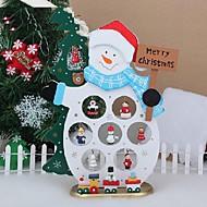 boneco de neve natal xmas dom mesa de madeira decoração com o ornamento para x'mas boneco de neve natal artigos de decoração