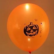 5pcs halloween bunten LED-Licht-Ballon-Kürbiskopf zu blinken Latexballons Halloween-Dekorationen Farbe zufällig