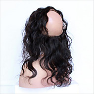 10-24 7A Full Frontal Lace Closure 360 Lace Band Frontal Closure Brazilian Body Wave Virgin Hair With Baby Hair