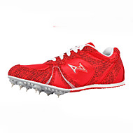 Unisex Athletic Shoes Fall Comfort Tulle Athletic Flat Heel Lace-up Blue / Red Track & Field / Running