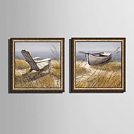 Krajina Kanvas v rámu / Set v rámu Wall Art,PVC Zlatá Bez pasparty s rámem Wall Art
