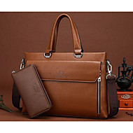 Men PU Casual / Office & Career Tote Brown / Black / Khaki