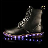 Unisexe-Extérieure Décontracté Sport-Noir Marron-Talon Plat-Light Up Chaussures-Bottes-Synthétique