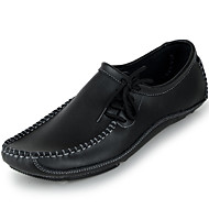 Men's Oxfords Spring / Summer / Fall / Winter Moccasin Nappa Leather Office & Career / Casual Black / Gray / Taupe