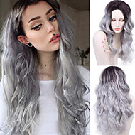 Fashion Gradient Grey Wig Cheap Natural Hair Wigs Long Curly Synthetic Wig For Women 26 Inch Synthetic Wigs Heat Resistant