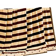 bedtoppings deku flanelové korálové rouno falešný norek queen size 200x230cm stripe tisky tlustší