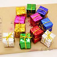 12kpl joulukuusi tarvikkeet tuote laser lahja pussi kuusi erilaista väriä
