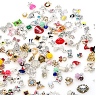 10pcs High Quality Random Mix of Manicure Alloy Jewelry