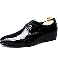 Men's Oxfords Spring /Summer/Fall / Winter Comfort Patent Leather Office & Career / Casual Chunky Heel Black/Red