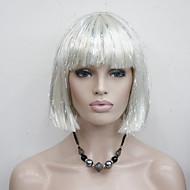 Kobieta Peruki syntetyczne Bez czepka Proste Biały Fryzura Bob cosplay peruka Costume Peruki