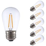 2W E26/E27 LED filament žarulje S14 2 COB 200 lm Toplo bijelo Može se prigušiti V 6 kom.