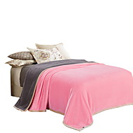Coral fleece Multi-color,Solid Solid 100% Polyester Blankets 200x230cm