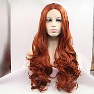 Ženy Kaštanová Vlasy Přírodní vlasová linie Umělé vlasy Se síťovanou přední částí Přírodní paruka Paruka Halloween Karnevalová paruka