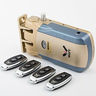wafu kulcsnélküli intelligens távirányító zár&Vezeték nélküli láthatatlan lopásgátló zár&biztonsági zár, 4 távirányítók
