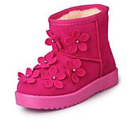 Girl's Boots Fall / Winter Snow Boots / Comfort PU Dress / Casual Flat Heel Zipper Black / Red / Taupe Walking