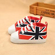 Синий / Зеленый / Красный / Коралловый / Тёмно-синий-Для мальчиков-На каждый день-Полотно-На плоской подошве-Удобная обувь-На плокой