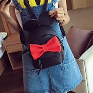 女性 バックパック PU カジュアル ブラック ピンク