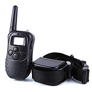Hunde Gø Halsbånd Træningshalsbånd til hunde Anti-Gø Fjernbetjening Elektronisk/Elektrisk LCD Vibrering 300M Solid Sort Plastik