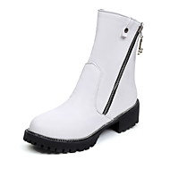 Women's Boots Fall / Winter Others Dress / Casual Low Heel Zipper Black / Brown / White Others