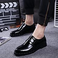 Men's Oxfords Comfort Patent Leather Wedding Party & Evening Black
