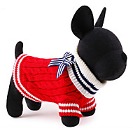 Katzen / Hunde Pullover Rot / Blau Hundekleidung Winter / Frühling/Herbst Seefahrer Lässig/Alltäglich / warm halten