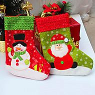 2pcs / lot Natal de Santa lotação para a decoração do partido socking meias natal do presente para o presente do Natal&decoração