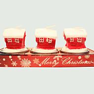 Julljus söta lilla huset form 3st