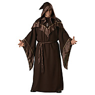 Cosplay Costumes Wizard/Witch Halloween Brown Print Cotton Dress / Belt / Hat