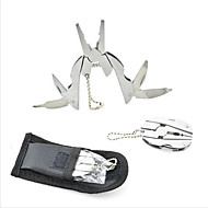 6-In-1 multitools mini Folding Pliers Stainless Steel Crimping tool Survival Camping PDR Multi tools Cable Wire Stripper Crimper 1PC