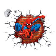 3D Cartoon Spider-Man Super Hero 3D Wall Stickers Removable Children's Bedroom Wall Decals
