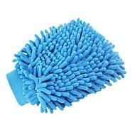 ziqiao vaskbart bilvask rengøring handsker værktøj vaskehallen super mitt mikrofiber klud (tilfældig farve)