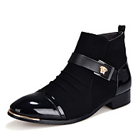 Men's Boots Spring / Fall / Winter Fashion Boots / Comfort Casual Flat Heel Lace-up Black Others