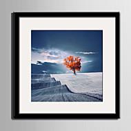 Paisagem Quadros Emoldurados / Conjunto Emoldurado Wall Art,PVC Preto Cartolina de Passepartout Incluída com frame Wall Art