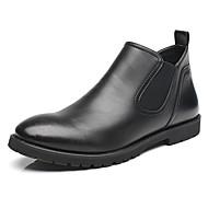 Masculino-Botas-Conforto / Botas Cano Curto / Botas da Moda-Salto Baixo-Preto / Marrom-Couro-Casual