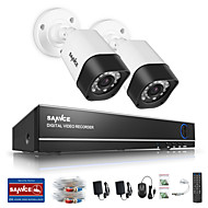SANNCE® 1.0MP 720P 4CH HD 4 in1 TVI H.264 DVR In/Outdoor CCTV Security Camera System