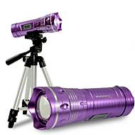 פנס LED / פנס חצובה / פנסי יד LED 200-1000 Lumens 3 מצב LED כפתור סוללת ליתיוםDimmable / מיקוד מתכוונן / עמיד למים / גודל קומפקטי / חירום
