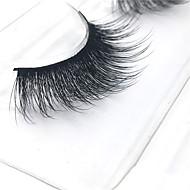 Cílios Cílios Tiras Completas de Cílios Olhos Grossa Pestanas Levantadas / Volumizado Confeccionada à Mão Fibra Banda Preta 0.07mm 14mm