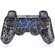בקר Bluetooth שישה צירים כפולים הלם אלחוטי ל PS3 (ססגוניות)
